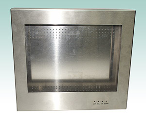 "Stainless steel monitor housing for 15""-touch display"